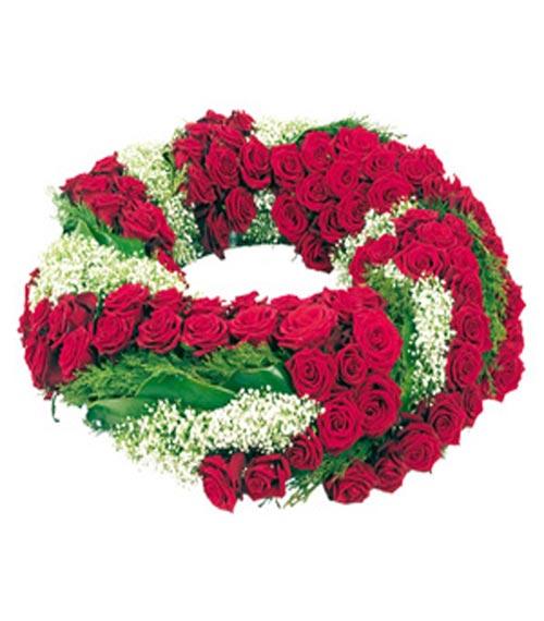 Livraison de fleurs deuil couronne rouge mafleur ma for Livraison fleurs etranger