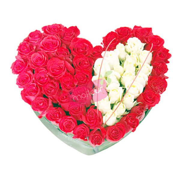 Flowers Delivery Heart Absolute Love Mafleur Ma Morocco