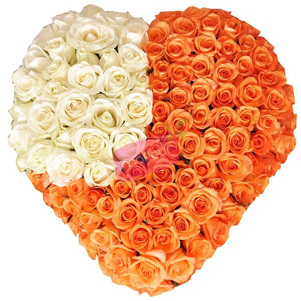 Livraison de fleurs coeur roses chaleureuses mafleur for Livraison de fleurs demain
