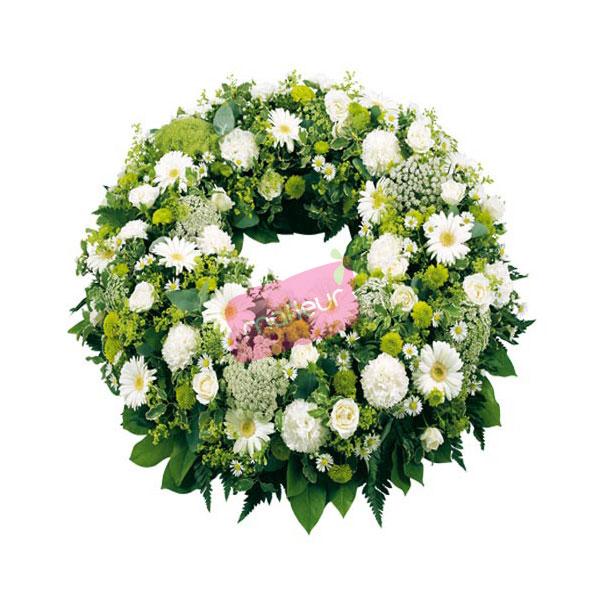 Livraison de fleurs deuil couronne blanche mafleur for Livraison de fleurs demain