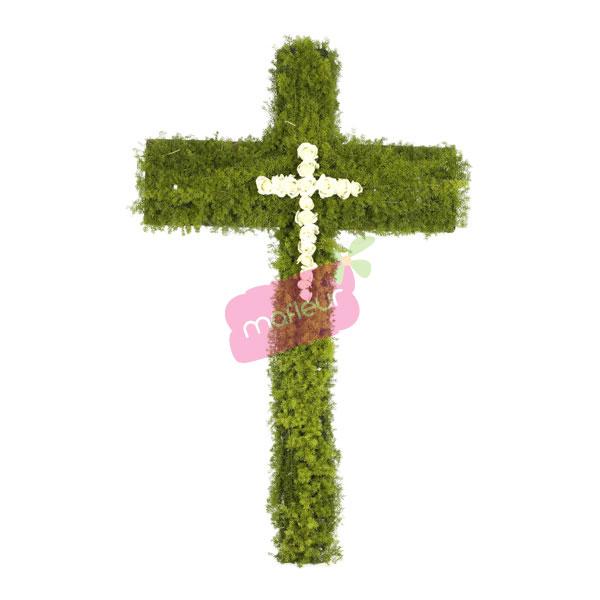 Livraison de fleurs deuil croix vert blanc mafleur for Livraison de fleurs demain